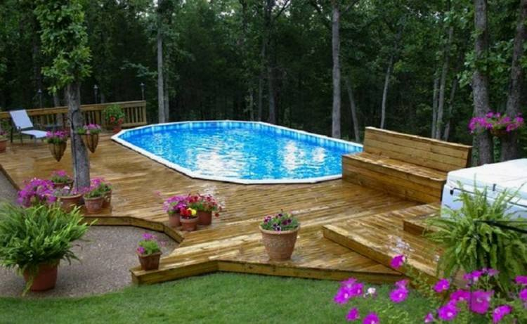 deck designs small photos free for above ground pool