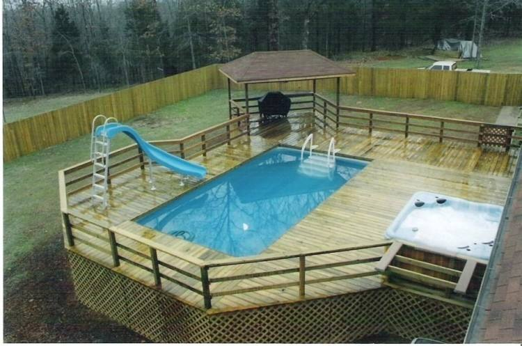swimming  pool privacy fence ideas