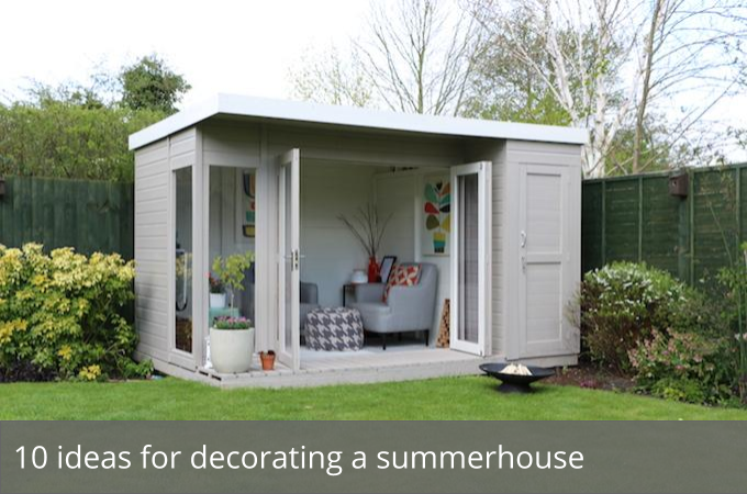 Nice Simple Design Of The Wooden House With Garden Summer House Shed Can  Add The Beauty