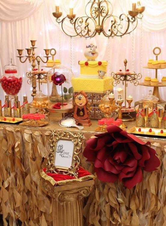 beauty and the beast birthday party supplies from a be our guest on decor  table decoration