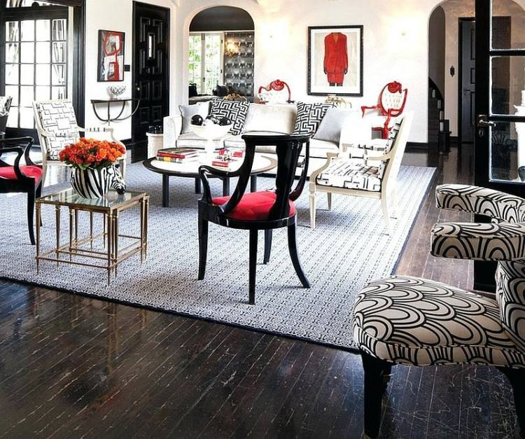 Black And Red Dining Room