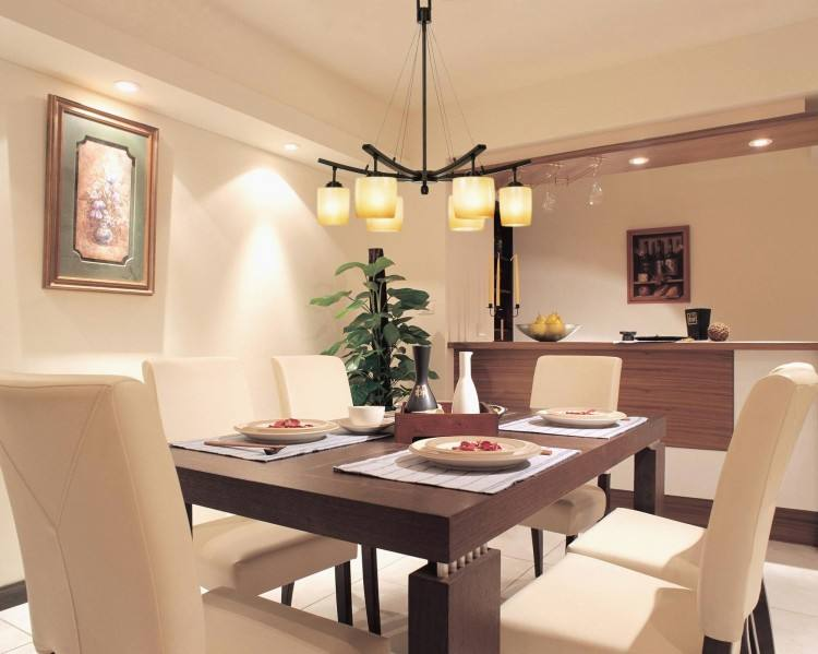 Formal Dining Room And Kitchen Combined Ideas Black Stove Wooden Dining  Chair Interesting Pendant Lamps White Round Dining Table Wooden Table  Including