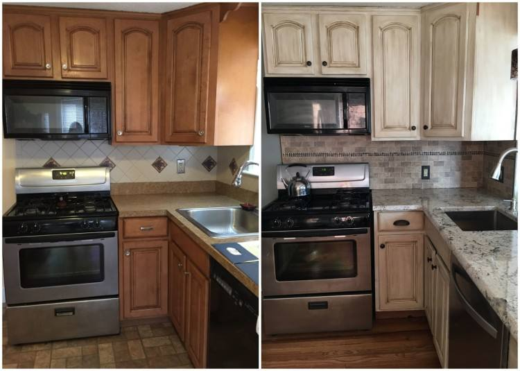 Small Rustoleum Kitchen Cabinet Transformation