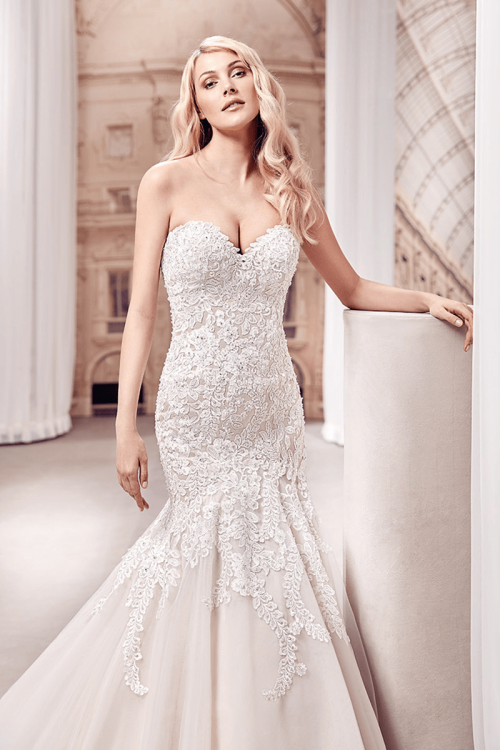 Sweetheart Mermaid Wedding Dresses Gorgeous Pleats Ruffles Lace Up Bridal  Gowns