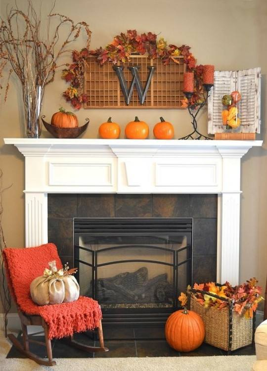 For more fall mantel decorating ideas and inspiration, take the Seasonal  Simplicity Fall Mantel tour by visiting these talented blogger's blog posts
