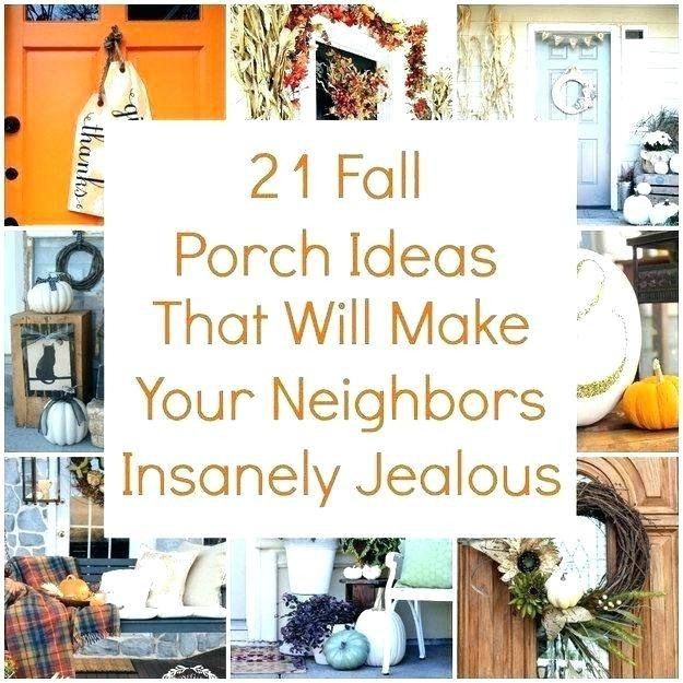 Colorful fall porch decorating ideas