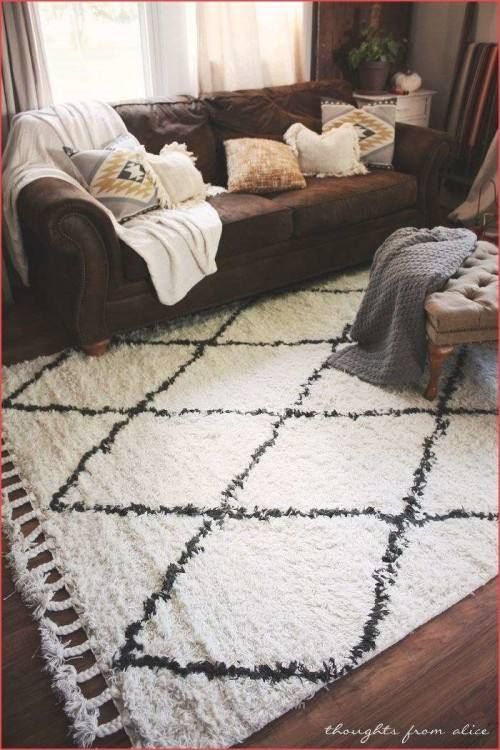 com: Large Area Rugs 8x11 Dining Room Rugs for Hardwood Floors Cream  Black Rug 8x10 Area Rugs Rugs: Kitchen & Dining