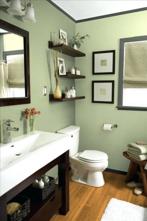 green brown bathroom decorating ideas picture KjJO House Decor Picture  green and brown bathroom decor