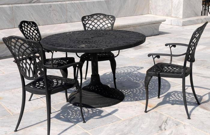 Ideal Cast Iron Patio Furniture Repair From Furniture Wrought Iron Patio  Table Also Chairs In Green