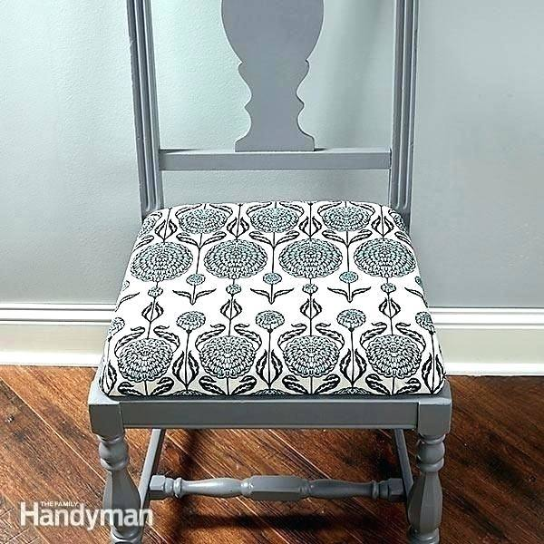 How to reupholster dining chairs and attach piping
