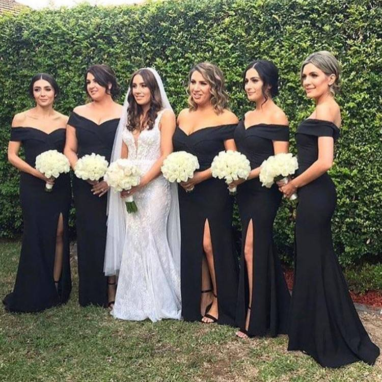 2018 African Black Girl Mermaid Wedding Dresses Bridal Gowns Sheer Neck  Keyhole Back Sheer Bridal Gown With Lace Appliques Bride Wedding Dress  Cheap Mermaid