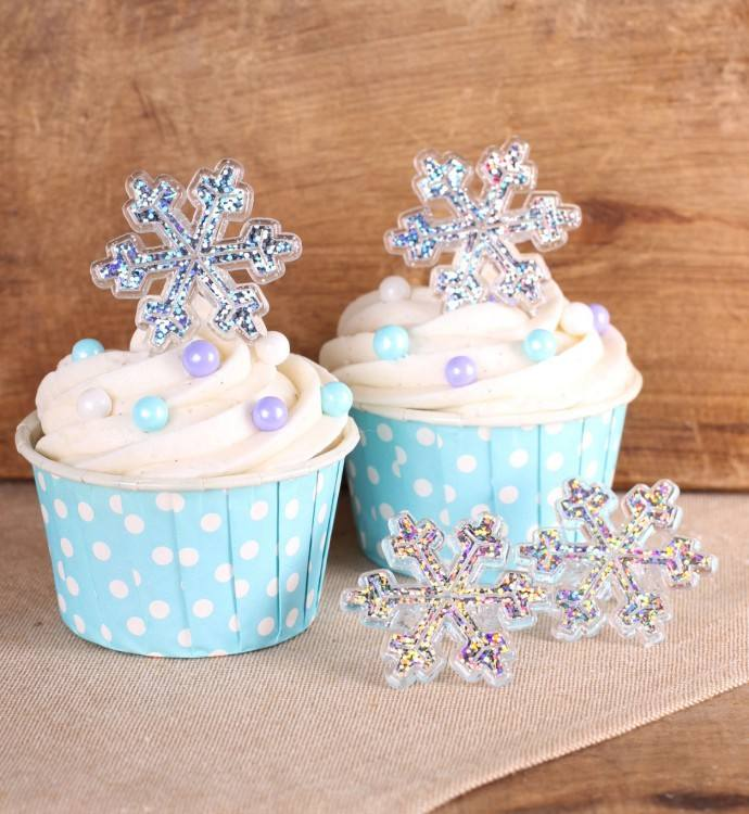 template for snowflake cupcake decorations