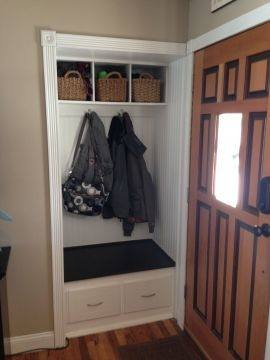 Square Closet Design Ideas : Square Closet Design Ideas Small Front Hall  Closet Turned In To