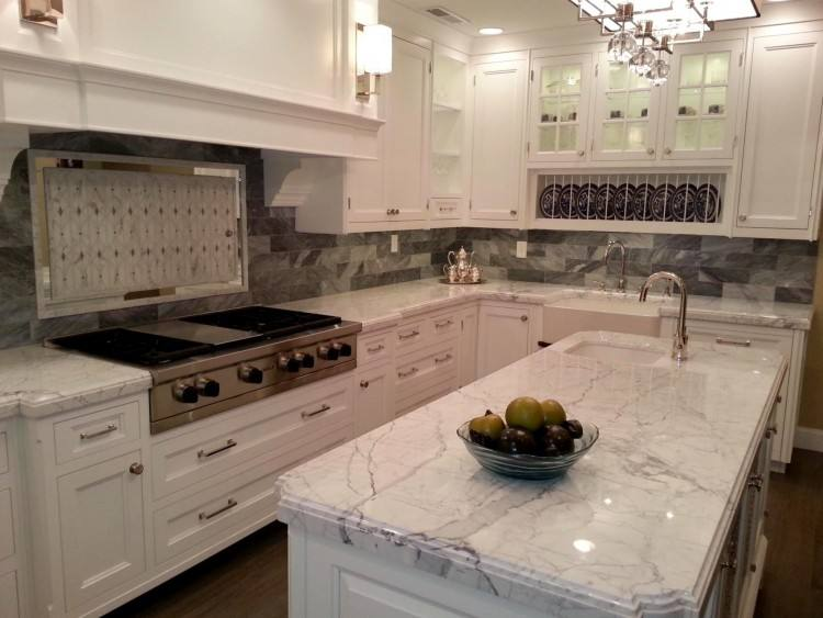Backsplash for Busy Granite Countertops | Diana G