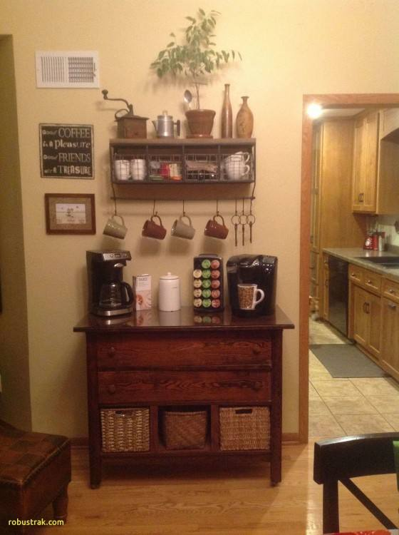 DIY Coffee Station in the kitchen