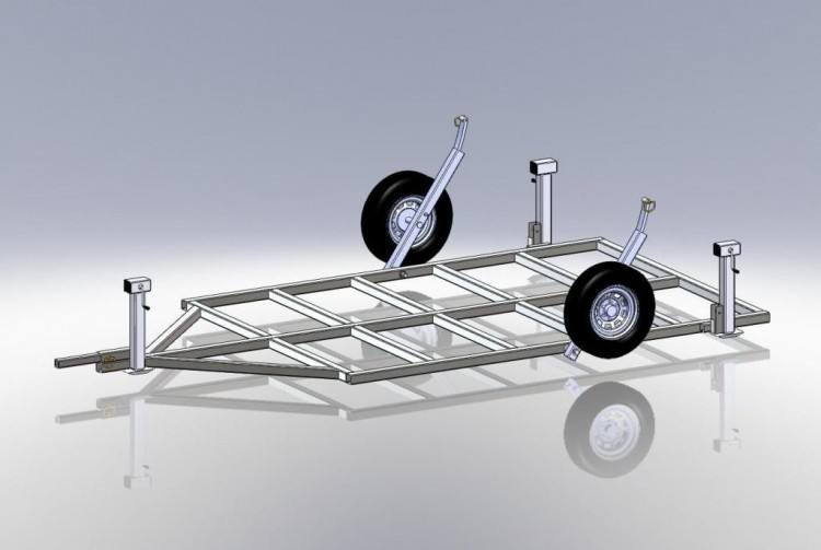 Fish House Trailer Frame FREE LISTING For SALE List Your Boats