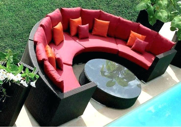 Curved Patio Furniture Circle Patio Chair Curved R Sofa Sectional Semi  Circle Patio Furniture Half Half Circle Patio Furniture Cover Curved Outdoor  Patio