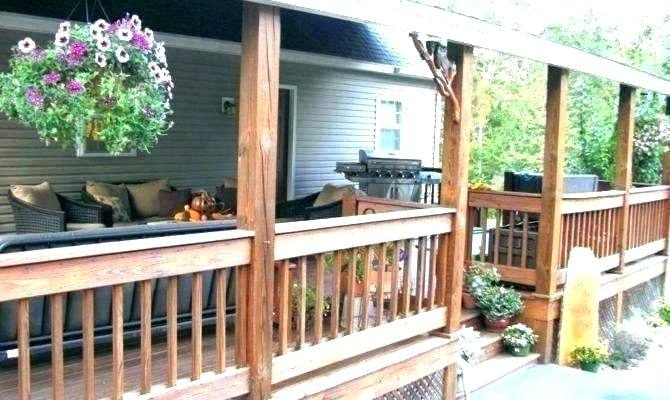 Cozy Seating with Deck Decorating Ideas: Inexpensive Backyard Ideas With Small  Back Porch Ideas And Deck Decorating Ideas Also Planters With Outdoor Rug  And