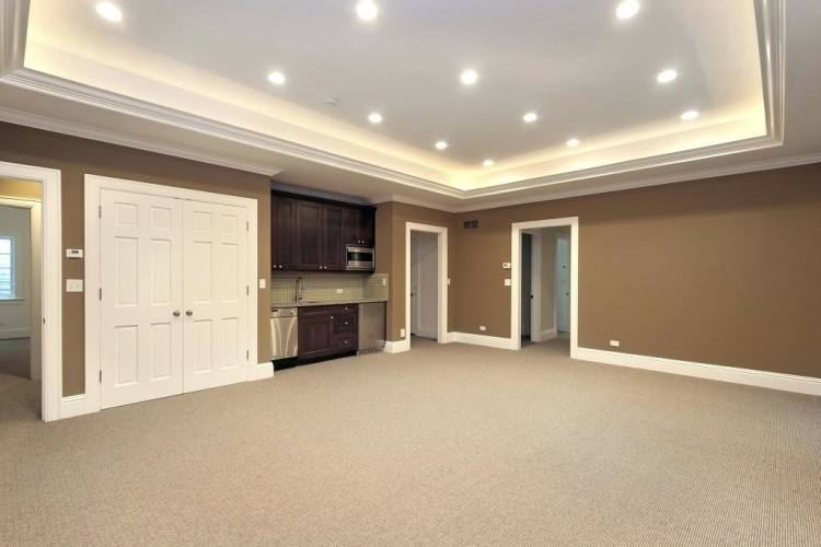Interesting Finished Basement Wall And Floor Paint Color
