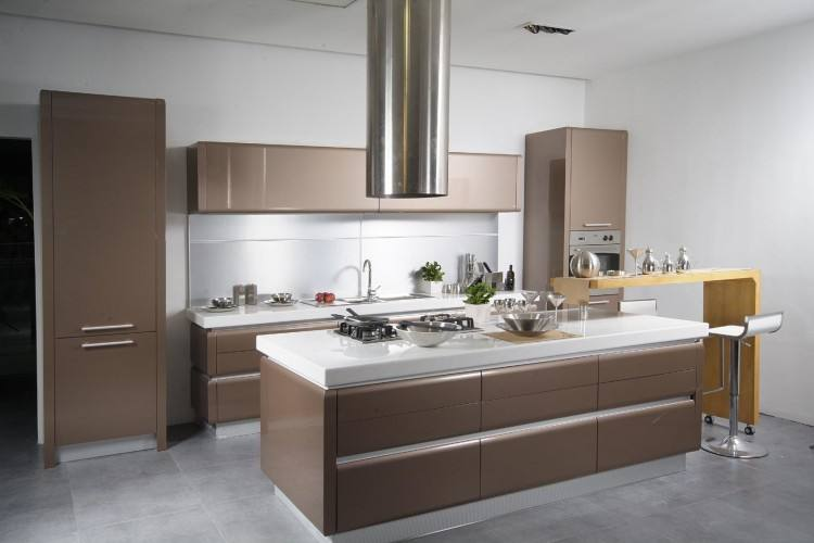 modern kitchen with green glass and white cabinets colors design ideas 2014