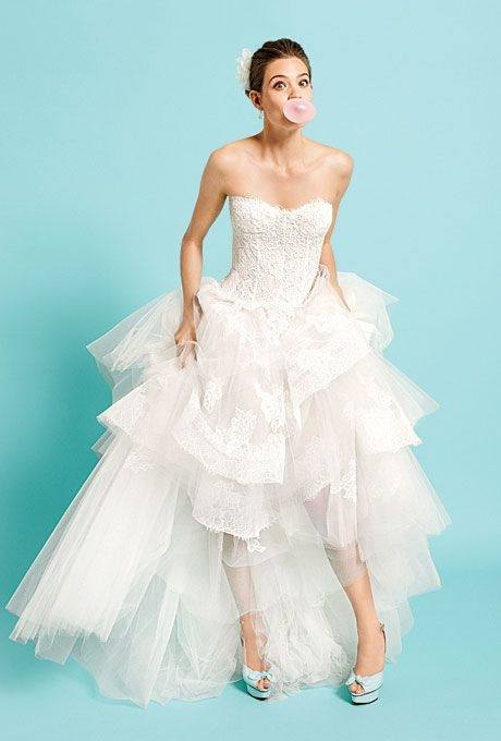 The sweetheart is a popular bodice choice amongst brides, thanks to it's  flattering shape