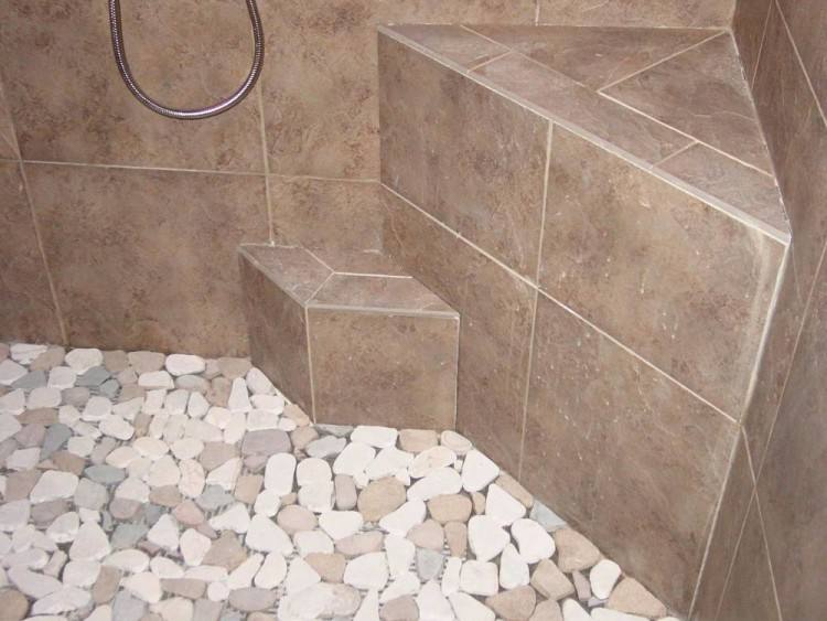 pebble stone tile best bathroom pebble tile and stone tile ideas images  pebble stone tile shower