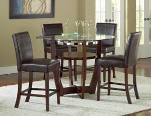Large Picture of Bernards Tuscan 4550 Round Dining Table