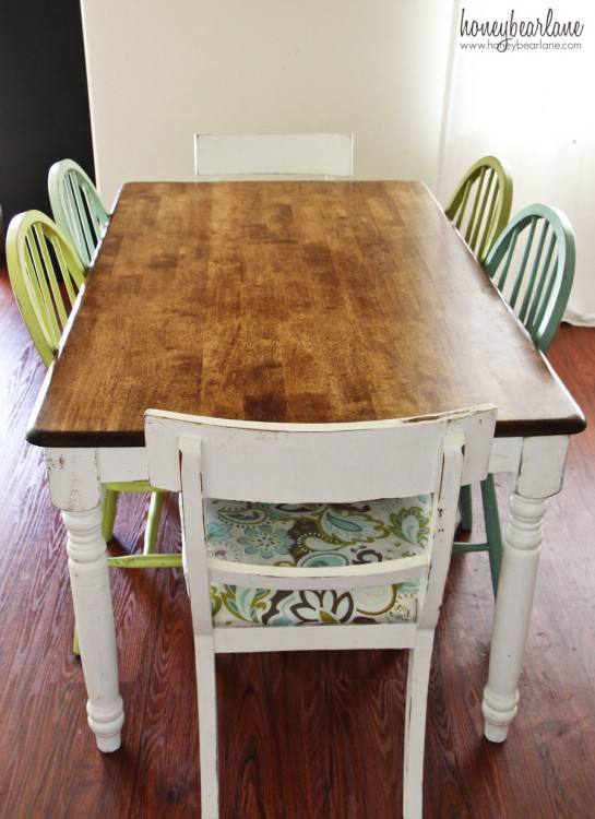 Dining Table, Refinishing Dining Room Chairs,: refinishing a dining table  Medium