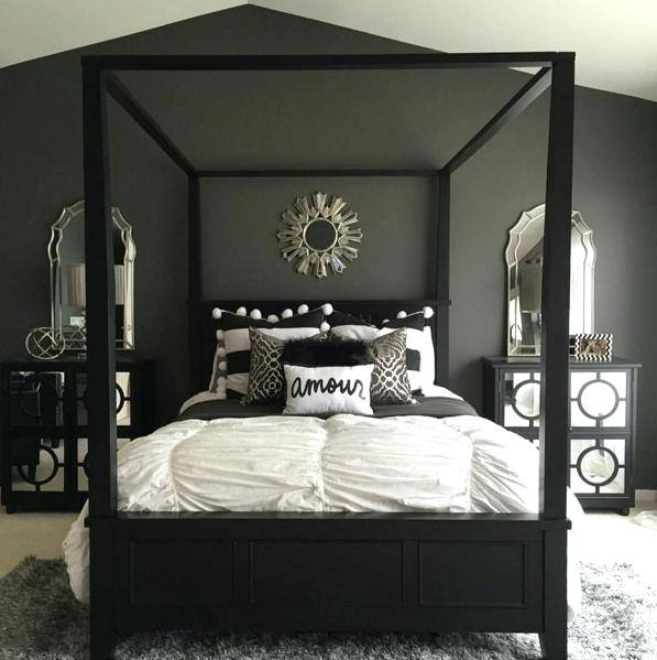 Inspiring Comfy Bedroom Decors With Headboard Master Bed Also White Bedroom  Chairs Added X Base Ottoman On Full Area Rugs And Curtain Windows Treatment