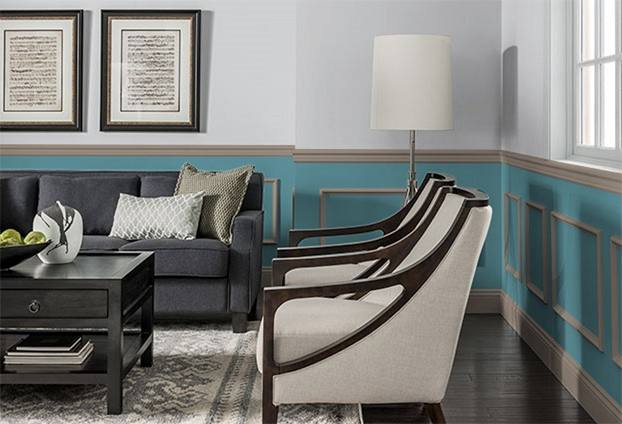 Appealing Dining Room Paint Colors With Chair Rail with Dining Room  Colors With Chair Rail Dining