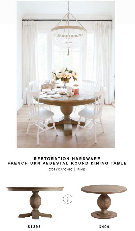 Great price with similar look to Restoration  Hardware table