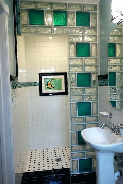 glass block wall shower ideas walls in