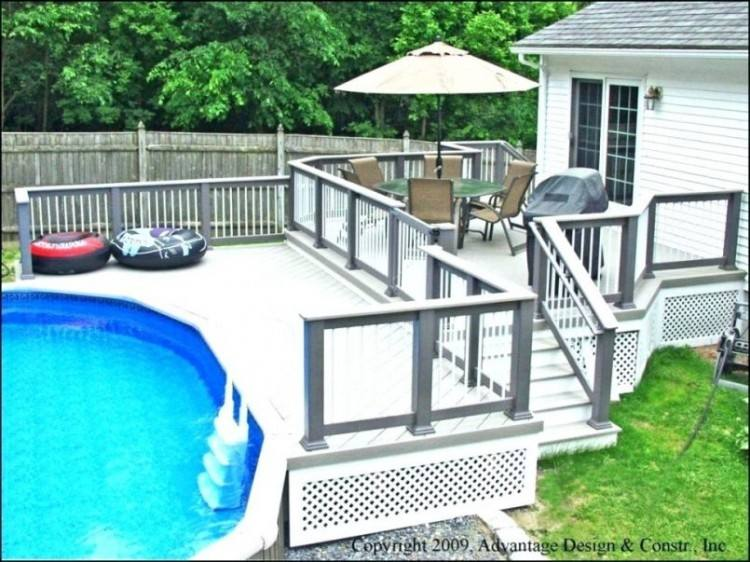 Full Size of Swimming Pool Above Ground Pool Deck Kits Above Ground Oval Pool  Deck Plans