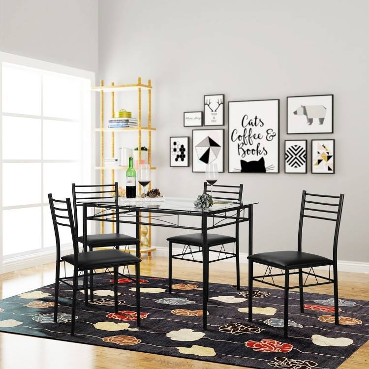 Full Size of Dining Room Modern Glass Dining Room Table & Chair Sets Glass  Dining Room