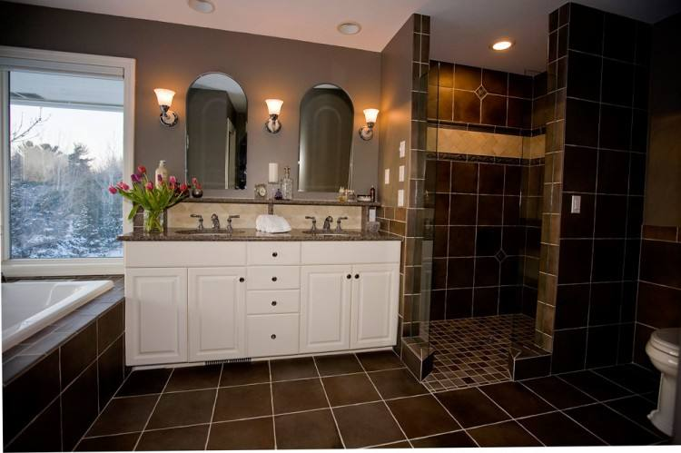 brown bathroom ideas