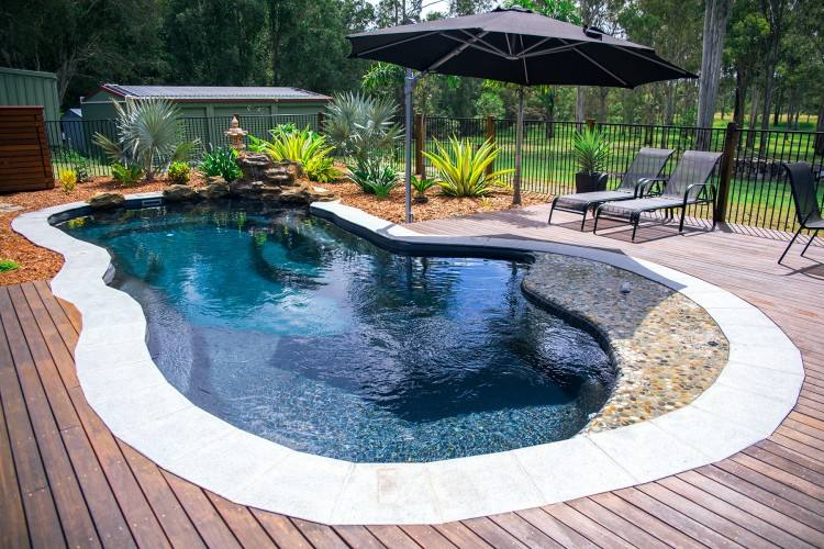 Delray small fiberglass rectangular pool designs