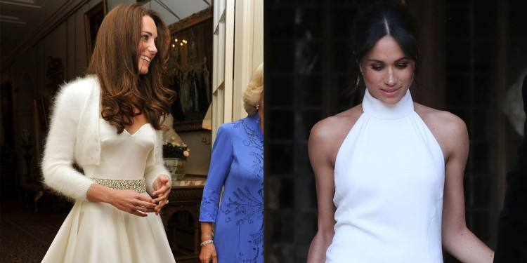 How does Meghan Markle's wedding dress compare to Kate Middleton's? We  investigate
