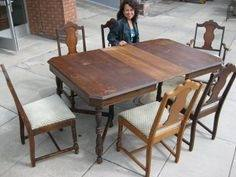 emporium bamboo server mahogany by progressive furniture dining room set  1940s round pf