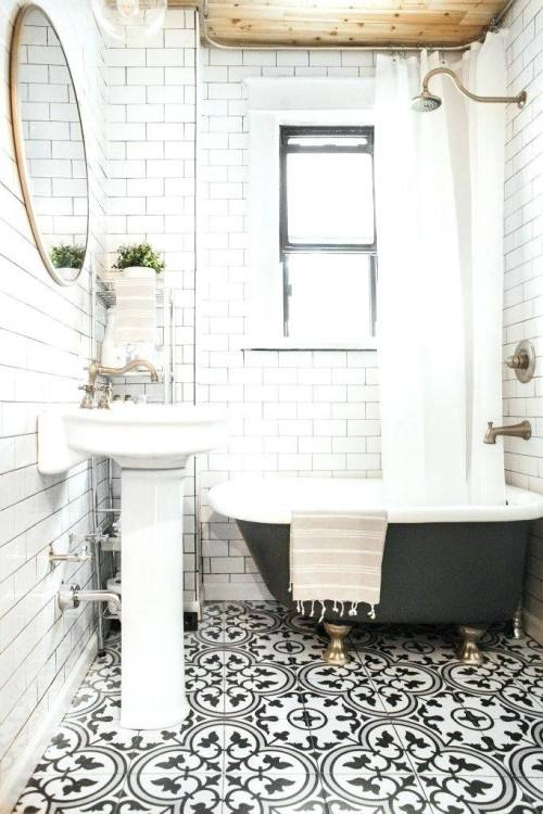 White Tile Around Bathtub  Ideas Bathroom