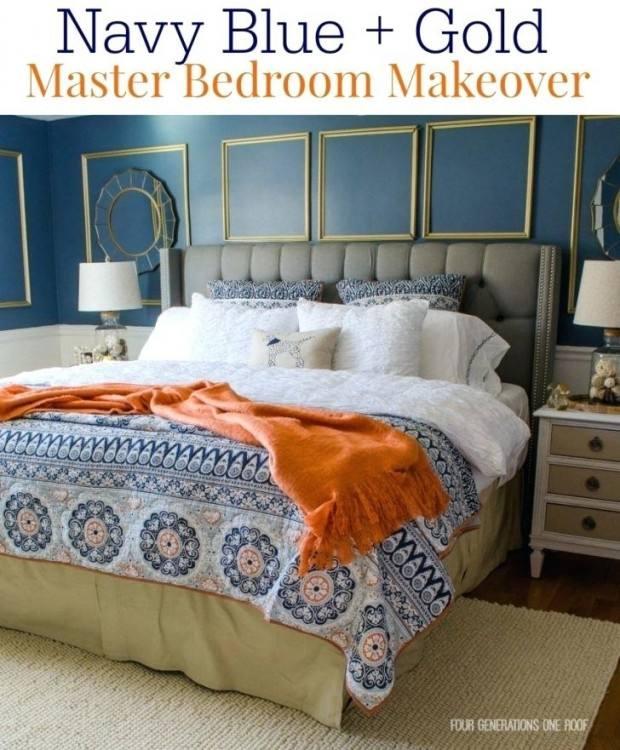 Alluring Blue And Gold Bedroom Decor By Interior Decorating Remodelling  Interior Design Blue And Gold Bedroom