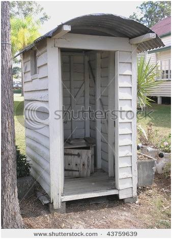 outdoor  bathroom shed