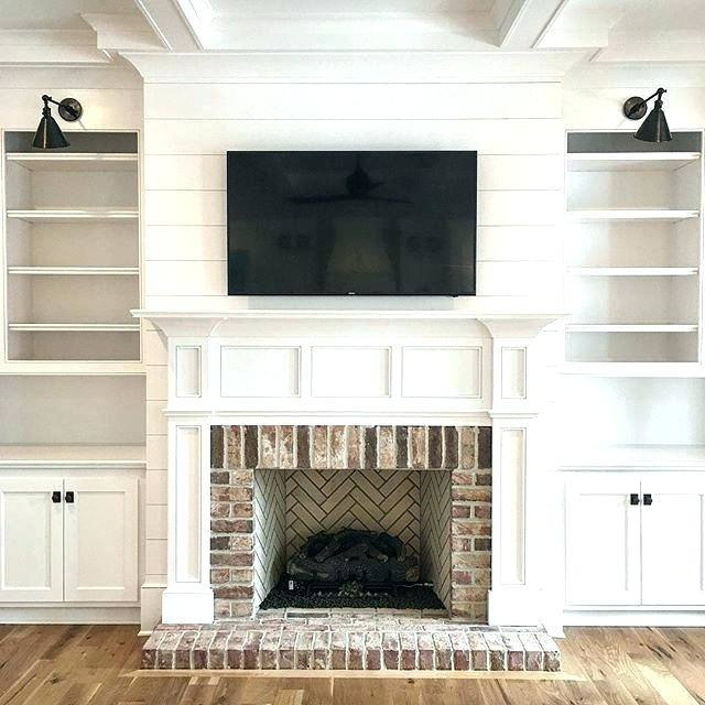 Large Size of Brick Fireplace Wall Decorating Ideas Red Decor Mantel  Painting Painted Fireplaces Best Images