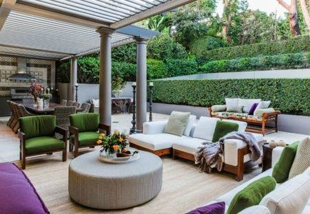 When people talk about outdoor living space, all thoughts seem to head  towards summer cookouts