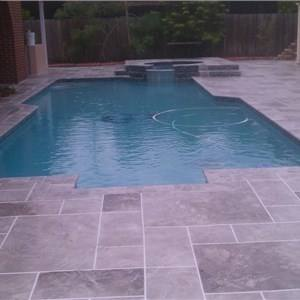 With Added Custom Features Like An Overflow Perimeter Spa Natural Stone  Waterfall And Fire Pit All To Turn This Backyard Pool Designs By Laly Miami  Fl