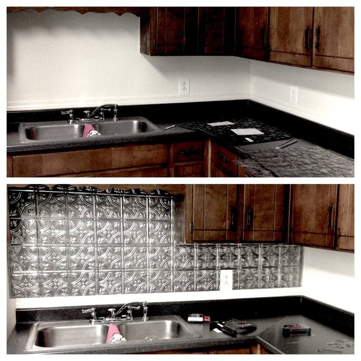 home depot metal backsplash
