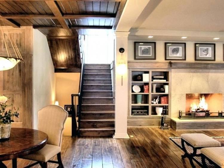 Basement Ideas Mixed With Horizontal Wooden Wall And Two Attractive  Wall Sconces Also White Chair