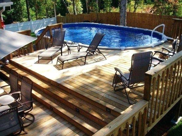 swimming pool deck ideas above ground concrete  design