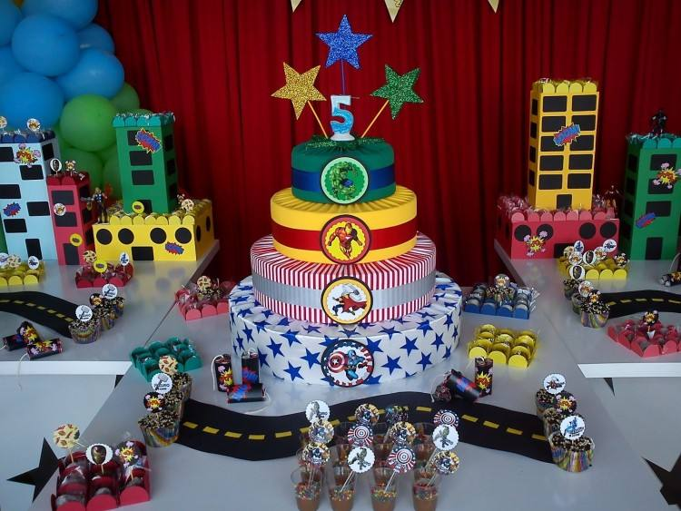 marvel avengers birthday party ideas soiree event design favors table