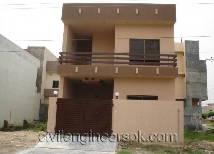 Waris House 5 Marla 3d View Elevation 25X50 in DC Colony Gujranwala Cantt,  Pakistan