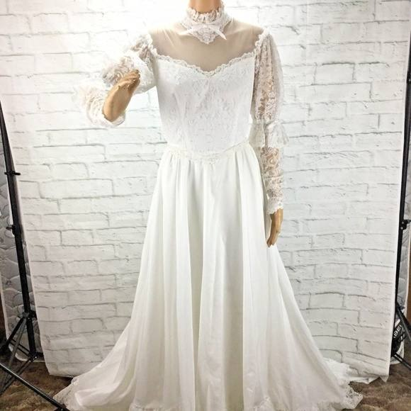 There is some simple lace on the sleeves, collar and at the bottom of the  dress